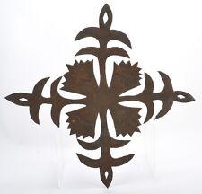Folk Art Iron Cross Whimsey Hand Forged
