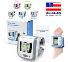 Digital Blood Pressure Monitor Portable Machine Pulse BP Automatic Wrist LED