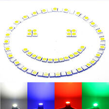 SMD LED 5050 Chip kalt HIGHPOWER - weiße SMD white blanch blau rot Diode weiss