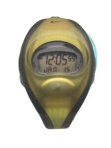 Nike Tempest Flow Digital Black/Yellow Sports Watch 3-001 Unisex RARE+Box BOGOF