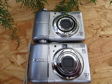 LOT 2 Canon PowerShot A1100 IS 12.1MP Digital Camera - Gray FOR REPAIR AS IS