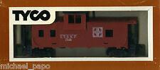 TYCO 328J 40' Wide Vision Caboose - Santa Fe (A T & SF) Red - NEW - HO