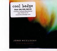 (DZ798) Jono McCleery, Fire In My Hands - 2013 DJ CD