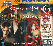 CRUEL GAMES RED RIDING HOOD Hidden Object OMINOUS PATHS 6 PACK PC Game. Free s/h