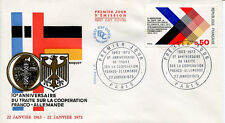 FRANCE FDC - 831 1739 2 COOPERATION FRANCO ALLEMANDE 22 1 1973 - LUXE