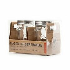Kikkerland Mason Jar Salt & Pepper Shakers / Shaker Set