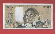 500 Francs pascal du 1-2-1990 Alphabet R.312  Billet N° 779147408