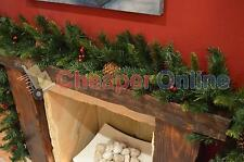270cm (9ft) x 25cm Rochester Spruce Christmas Garland with Berries & Pine Cones