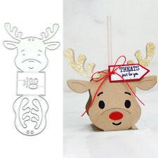 Christmas Elk Deer Metal Cutting Dies Stencil Scrapbooking Diy Paper Making Tool