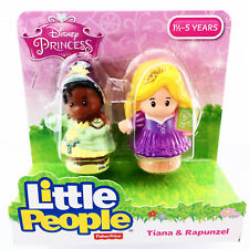 Fisher-Price Little People Disney Princess Tiana and Rapunzel Figures Age 1-5 Yr