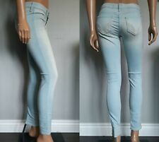 NWT Hollister Skinny Jeans Womens Size 3R 24 Light Blue Faded Denim Jeggings