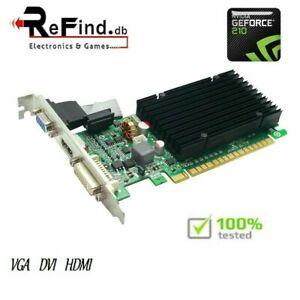 SCHEDA VIDEO GRAFICA PCI EXPRESS EVGA NVIDIA GEFORCE 210 512MB VGA DVI HDMI