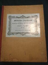 1800s German SONG MUSIC BOOK Musikalischer Jugendfreund 1848 Bädeker VTG ANTIQUE