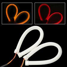 2x85cm Flexible Soft Tube LED Strip DRL Red Amber Switchback Turn Signal Light