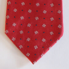 NEW Izod Silk Neck Tie Brick Red with Dark Blue Navy Dots and Pattern 1650