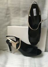 Elegant sandals Max Mara Women's, black-gold color, size 41 leather  Sandali