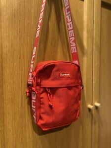New Supreme SS18 Unisex Summer Messenger Shoulder Bag Red