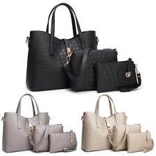 3Set  Women Handbag Handle Purse Tote Shoulder Bag Pu Leather Crossbody Satchel
