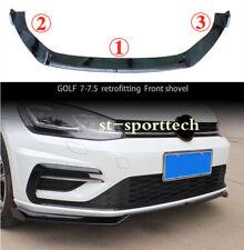 FIT FOR Volkswagen VW GOLF 7 VII MK7 GTI ABS Front Bumper Lip Cover Trim 3PCS