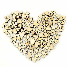 100pcs Wood Wooden Love Heart Rustic Wedding Table Scatter Decoration Crafts DIY