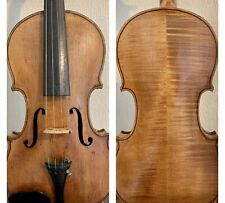 Beautiful Antique 19th Century German Label Metropole 4/4 Violin + Sound Sample