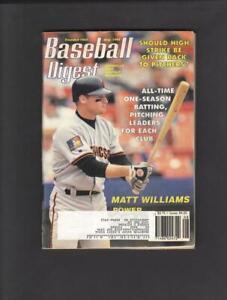 BASEBALL DIGEST MAGAZINE AUGUST 1994 MATT WILLIAMS COVER SAN FRANCISCO GIANTS