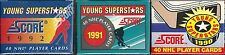 1990 & 1991 & 1992 Score Young Superstars 40-card Hockey Sets  Lindros  Sakic  +