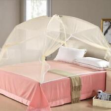 Beige Freestand Bed Canopy Insekt Moskitonetz Zelt Für Doppelbett 1,5 * 2m