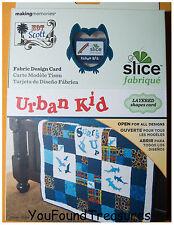 Fabric Design Card Urban Kid Slice Making Memories Crafts Quilting Kids Children