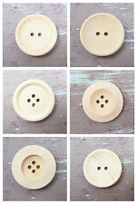 ROUND WOODEN BUTTONS  *6 TYPES & 8 SIZES* SEWING HABERDASHERY