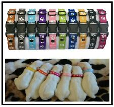 """10 Handmade Puppy ID Whelping Collars; Adjusts from 6""""-10""""; Choice of Colours"""