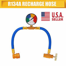 R-134A recharge refrigerant hose A/C Car auto Air conditioning Pressure gauge