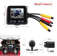 """Motorcycle 2"""" LCD DVR Video Recorder + Dual HD Camera Waterproof Loop Recording"""
