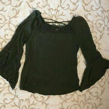 Beautees Dark Green Light & Airy Top - Girls Size XL - Gorgeous!