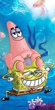 Spongebob Squarepants & Patrick Holiday Swimming Beach Towel 100% Cotton