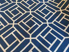 Stroheim Modern Geometric Linen Print Upholstery Fabric- Josepha / Navy 5358804