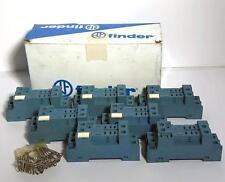 7 each Finder 9672 / 96.72 Socket for Screw Term Socket 15A 250V NOS NIB