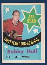 BOBBY HULL 69-70 O-PEE-CHEE 1969-70 NO 216 EXMINT+ 4227