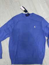 RALPH LAUREN POLO CREW KNIT - SHELTER BLUE - SIZE XL - BRAND NEW WITH TAGS