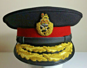 British Army General, Lieutenant General, Major General Peaked Cap Officers Hat