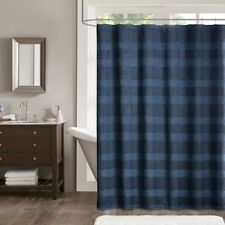 "Madison Park Colton Jaquard Shower Curtain-72""Wx72""-NAVY-MP70-4183"