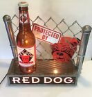 RARE Red Dog Beer DOG/Fence/Bottle Lighted Sign 3-D