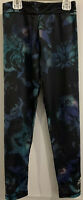 Adidas Girls Size 6X Black Green Blue Athletic Sports Cheer Dance Pants Floral