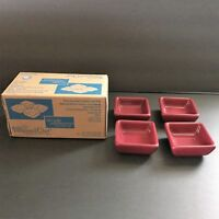 Pampered Chef Simple Additions Petite Squares Set of 4 Cranberry Box Condiments