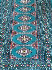 Beautiful Vintage Hand Made Fine Bokhara Turkoman Wool Rug 3'x 5'