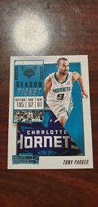 2018-19 Panini Contenders #14 Tony Parker Charlotte Hornets
