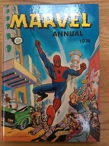 Marvel Annual 1974, Spider-Man, Daredevil, Giant-Man, Hulk (Unclipped) Fleetway