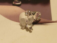 3D WHITE LOBSTER CLIP ON ELEPHANT CHARM - SUIT LINK BRACELET