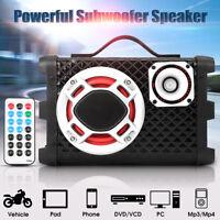 "5"" 60W Under-Seat Bluetooth Car Subwoofer Bass Audio Powered Amp Sub Box Speaker"