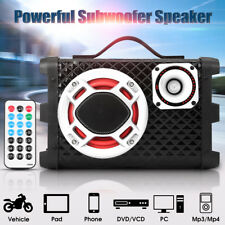 5'' 60W Car Audio Subwoofer Bluetooth Bass Under-Seat Amplifier HiFi Box Speaker